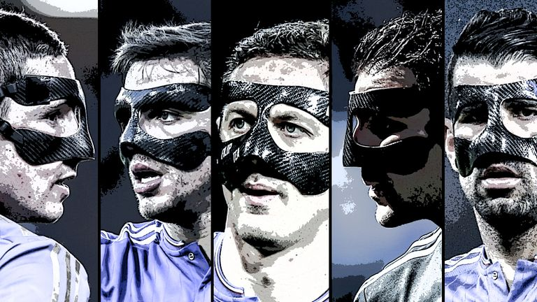 Numerous Chelsea players have worn protective masks in recent seasons