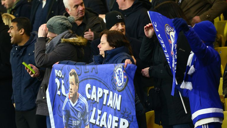 Chelsea fans were in full support of captain John Terry at Vicarage Road