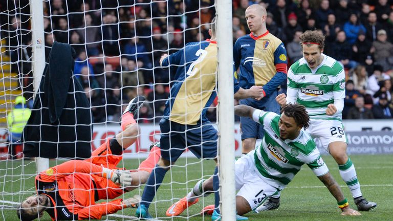 Celtic's Colin Kazim-Richards after scoring his side's second goal