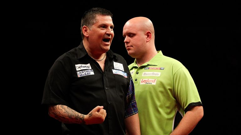 Gary Anderson begins his campaign against Michael van Gerwen