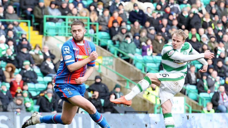 Gary Mackay-Steven fires Celtic into the lead against Inverness CT