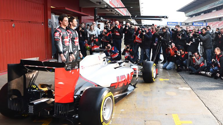 The day began with the launch of the Haas team and their first F1 car