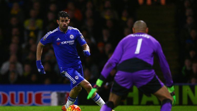 Heurelho Gomes kept Costa and Chelsea at bay at Vicarage Road