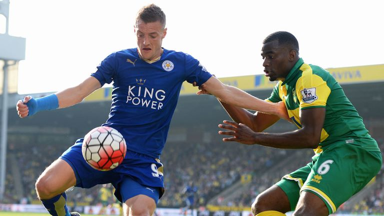 Norwich made life difficult for Jamie Vardy and Leicester on Saturday