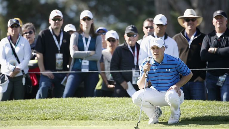 Spieth posted his best round of the week on Sunday