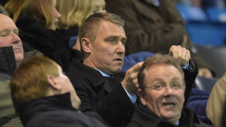 New Kilmarnock manager Lee Clark watched his side's defeat from the stands