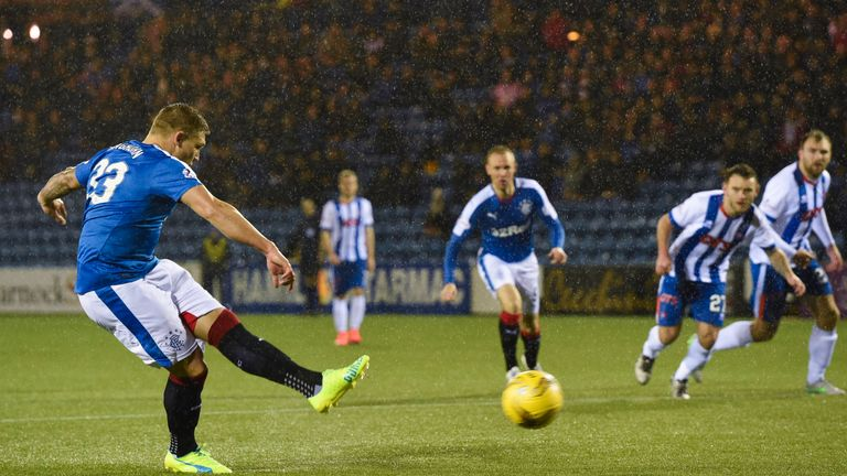 Martyn Waghorn netted Rangers' opening goal from the penalty spot