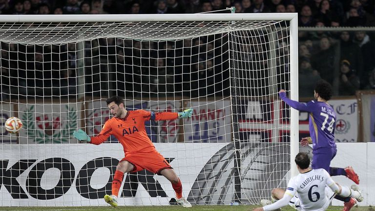 Mohamed Salah scored as Fiorentina knocked Spurs out last season