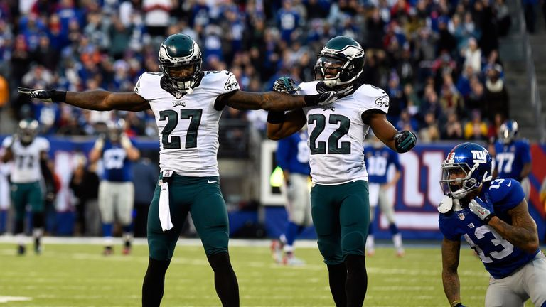 Malcolm Jenkins (left) is the key man on the Eagles defense