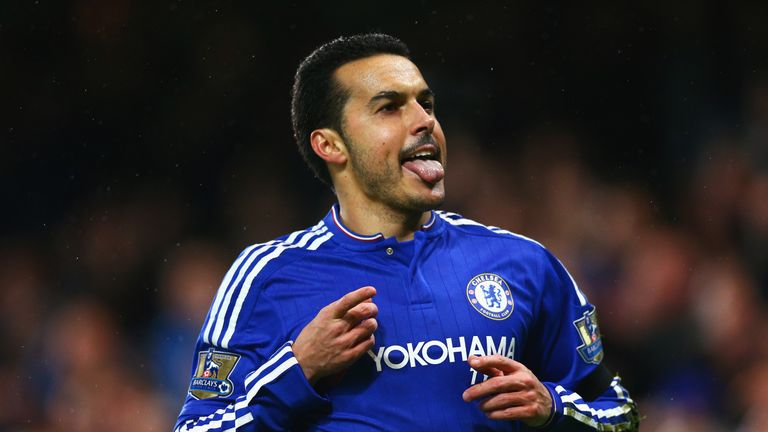 Pedro celebrates scoring against Newcastle