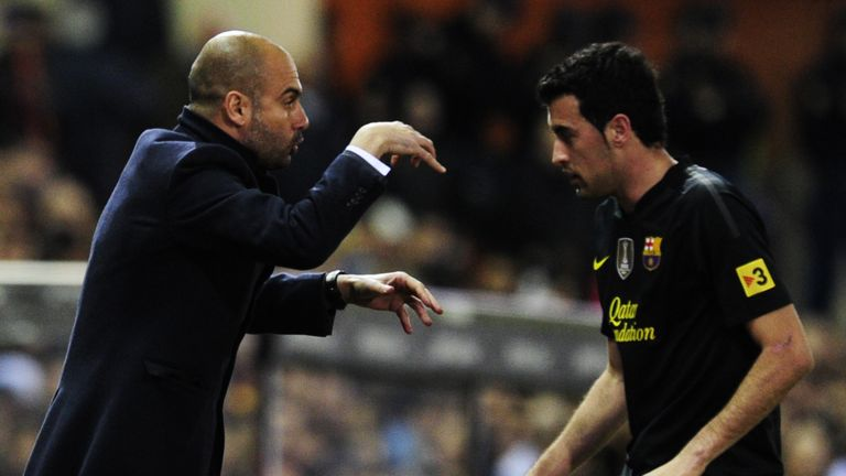 Pep Guardiola and Sergio Busquets were together at Barcelona