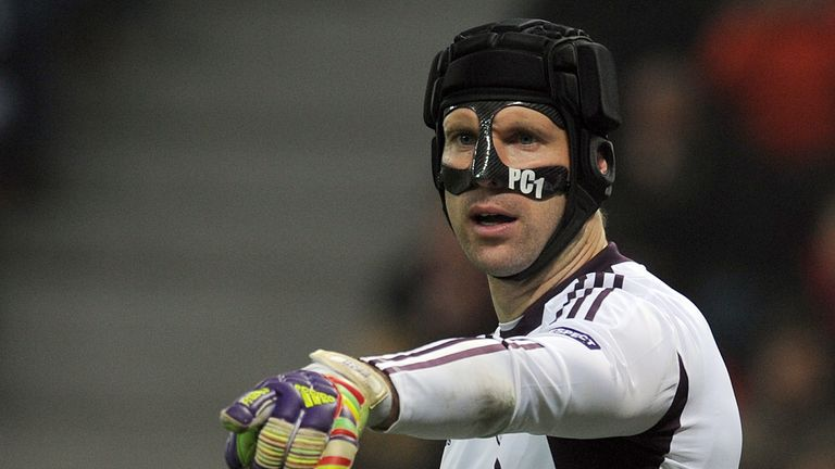 Petr Cech wore a mask under his helmet in the 2011/12 season