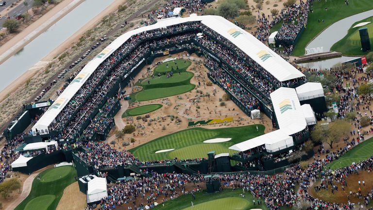 The Stadium Hole at TPC Scottsdale, venue for this week's Phoenix Open