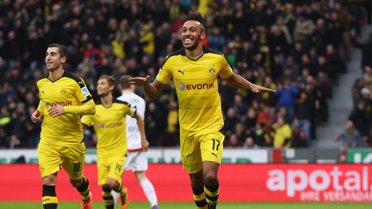 Pierre-Emerick Aubameyang has scored 22 goals this season for Dortmund