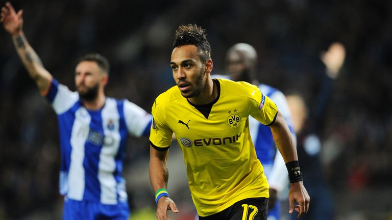 Pierre-Emerick Aubameyang has 22 goals for Dortmund this season in the Bundesliga