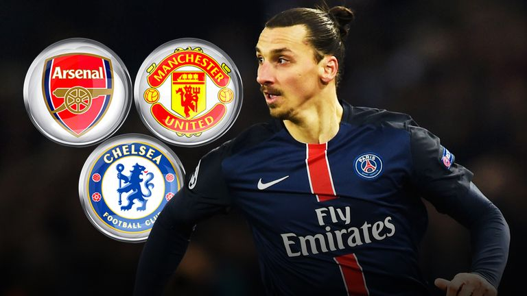 Zlatan Ibrahimovic has hinted at a move to England