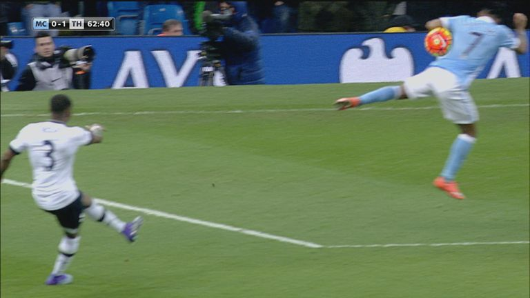 Did the ball strike Raheem Sterling on the arm?