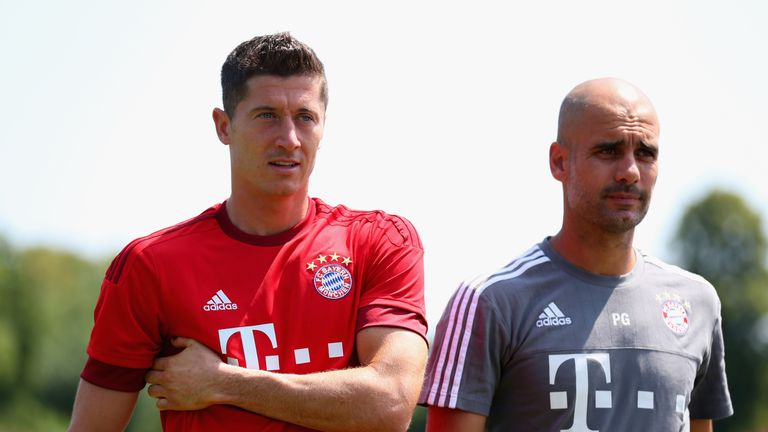 Pep Guardiola hailed Robert Lewandowski's professional approach earlier this season