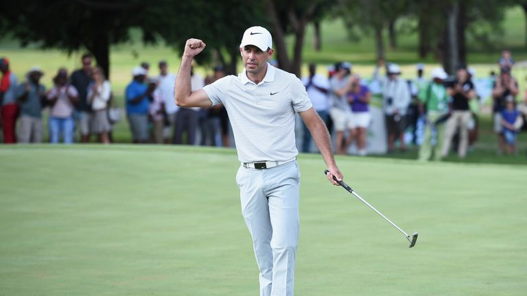 Schwartzel finished his final-round 63 with a birdie at the last