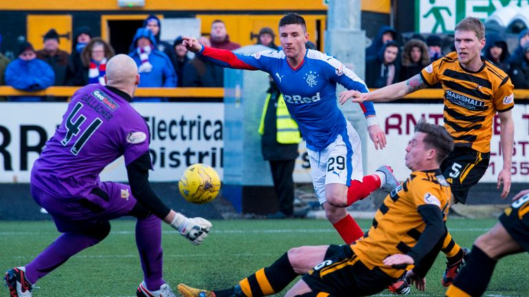 Michael O'Halloran scored his first goal for Rangers