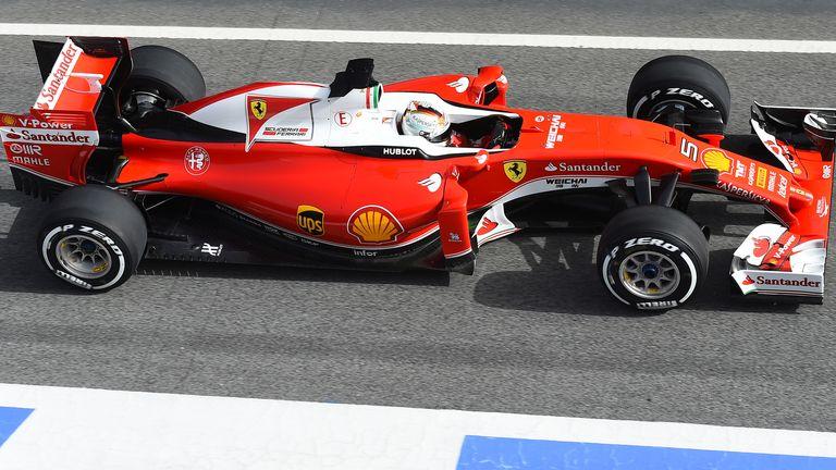 Sebastian Vettel went quickest shortly before the lunch break
