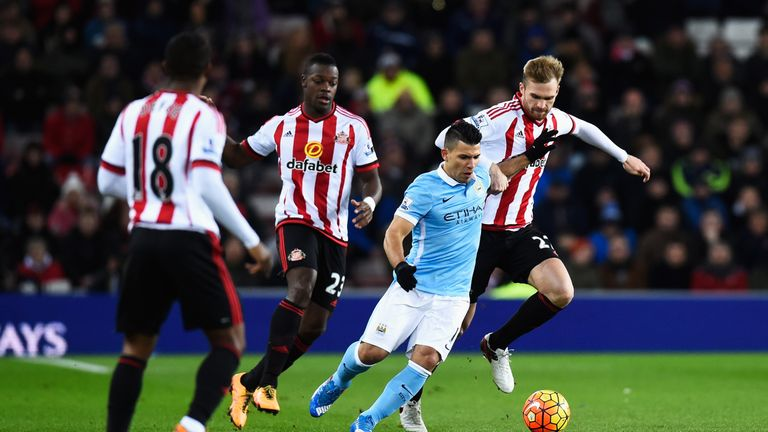 Sergio Aguero and Jan Kirchhoff had big chances