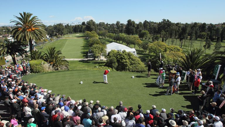 Sergio Garcia teeing off at the opening hole in 2015