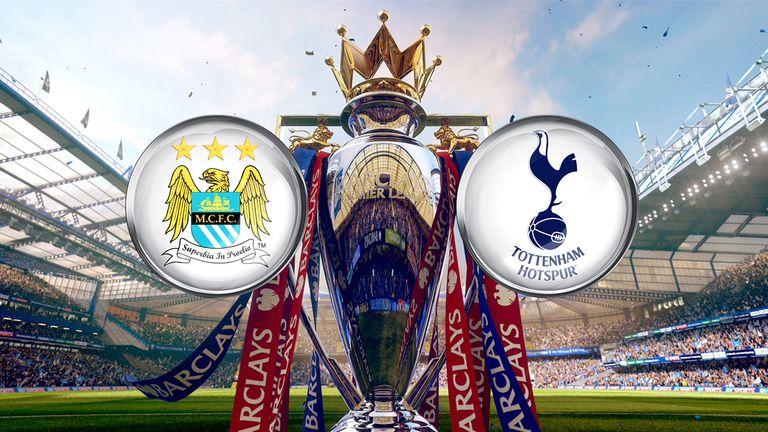 Manchester City  host Tottenham live on Super Sunday on Sky Sports 1 HD