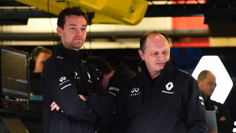 Frederic Vasseur (right) is the new racing director at Renault