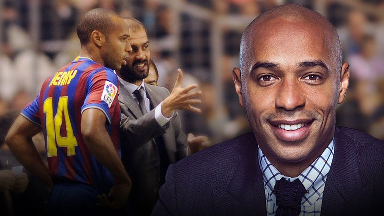 Sky Sports expert Thierry Henry was a key part of Barcelona's treble-winning side under Pep Guardiola in 2008/09