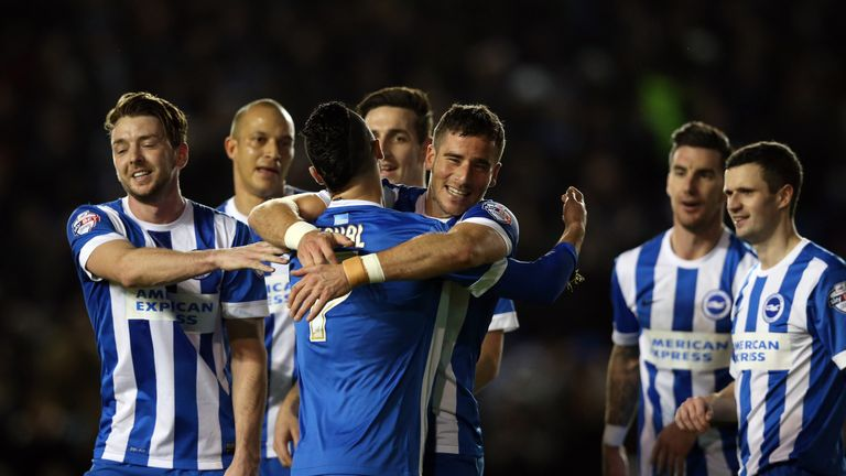 Tomer Hemed scored just before the break to put Brighton in control