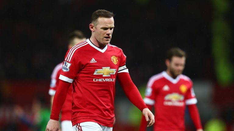 Wayne Rooney is out for up to six weeks with a knee injury