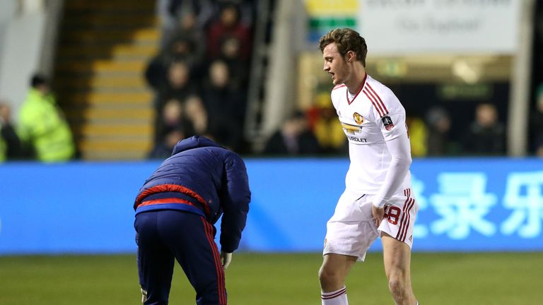 Will Keane picked up a groin injury in the second half on Monday night