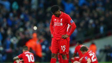 Daniel Sturridge did not take a spot-kick as Liverpool lost 3-1 on penalties