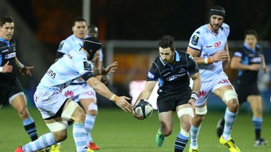 Glasgow Warriors played Racing 92 at Rugby Park last month