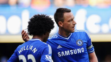Willian might not have John Terry as a team-mate next season
