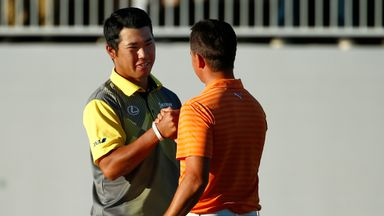 Hideki Matsuyama triumphed after edging Rickie Fowler after a dramatic play-off