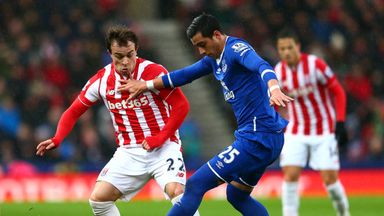Stoke midfielder Xherdan Shaqiri will be assessed before Saturday's game with Everton