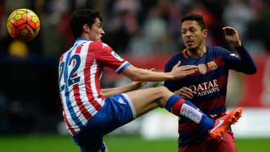 Barcelona's Brazilian defender Adriano (right) has signed for Besiktas