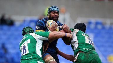 Tevita Cavubati tries to break through the Irish defence