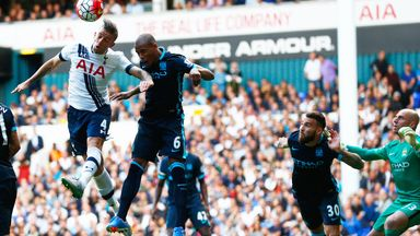 Toby Alderweireld scored for Tottenham in the 4-1 victory over Manchester City