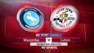 Wycombe 0-1 Luton