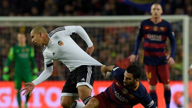 Live updates from the Mestalla as Valencia look to overturn a 7-0 deficit in their Copa del Rey semi-final second-leg tie with Barcelona