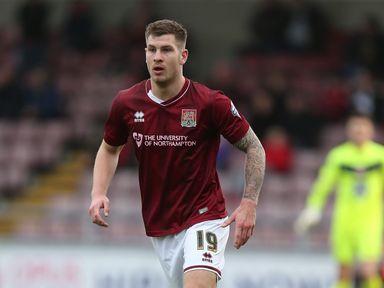 James Collins: Scored twice for Northampton