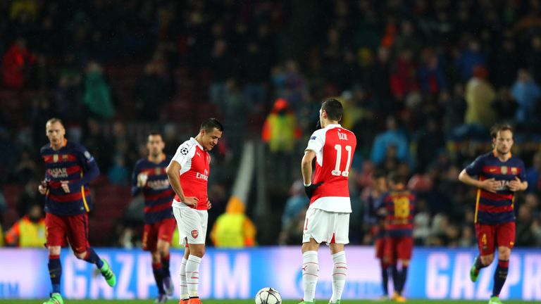 Arsenal exited the Champions League after a 5-1 aggregate defeat to Barcelona