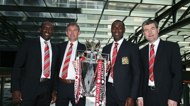 Cole (second right) scored 121 goals during his United career