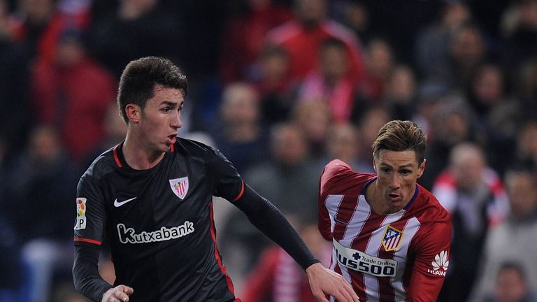 Aymeric Laporte of Athletic Club in action