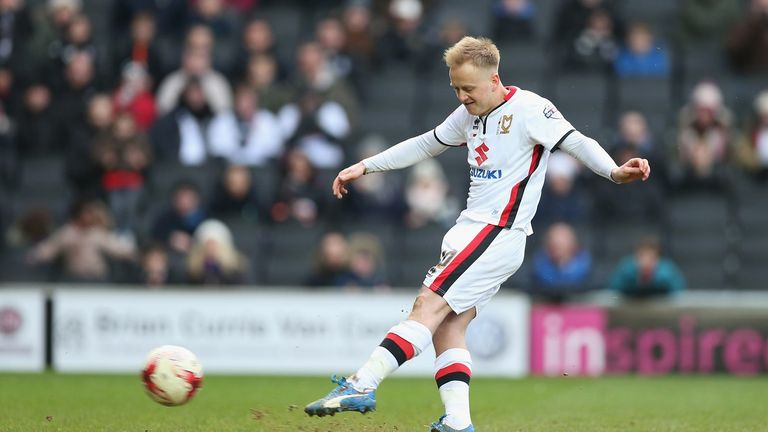 Ben Reeves of Milton Keynes Dons during the Sky Bet Championship match between Milton Keynes Dons and Queens Park Rangers