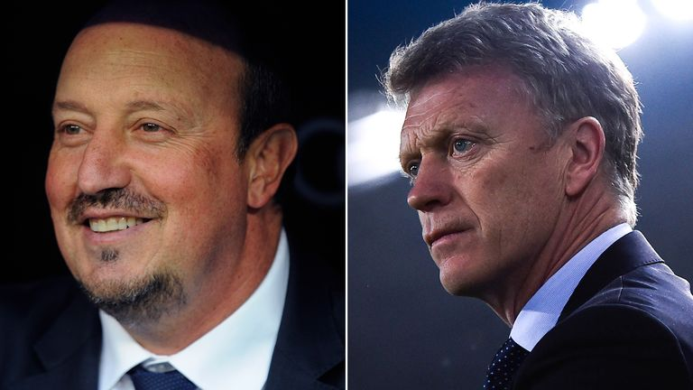 Rafa Benitez and David Moyes are both currently without a club