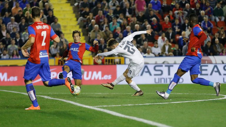 Debutant Borja Mayoral forces own-goal with low first-half shot